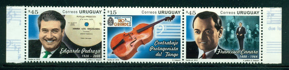 Uruguay Scott #2406 MNH STRIP of 3 Tango Music CV$16+