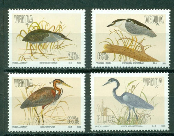 Venda Scott #257-260 MNH Birds Fauna CV$6+
