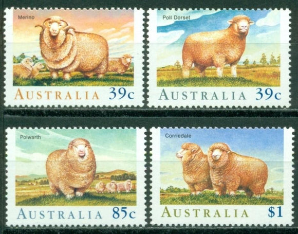Australia Scott #1136-1139 MNH World Sheep and Wool Congress Fauna CV$5+