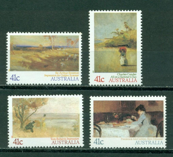 Australia Scott #1146-1149 MNH Impressionist Paintings Art CV$3+