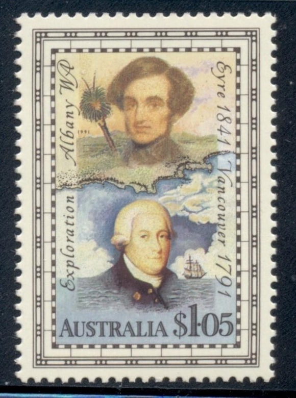 Australia Scott #1226 MNH George Vancouver Explorer Map CV$2+