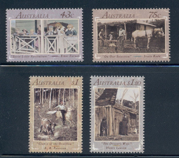 Australia Scott #1227-1230 MNH Australian Literature of the 1890's CV$6+