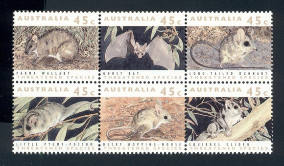 Australia Scott #1235 MNH BLOCK Threatened Species Fauna CV$5+