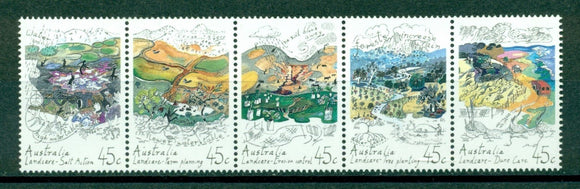 Australia Scott #1267 MNH STRIP Land Care Planting Flora CV$4+