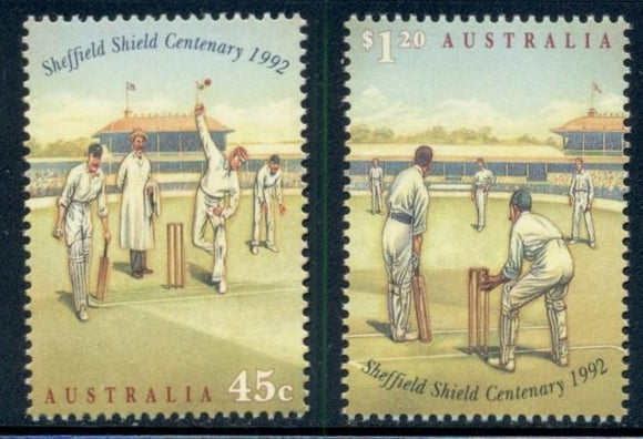 Australia Scott #1301-1302 MNH Sheffield Cricket Competition Sports CV$3+