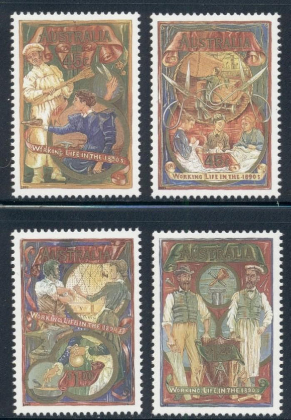 Australia Scott #1320-1323 MNH Working Life in the 1890's Art CV$6+
