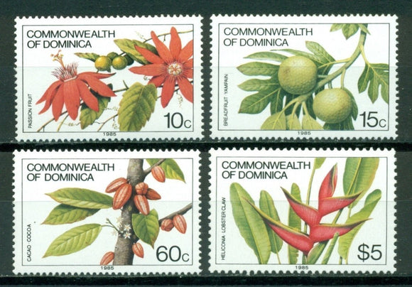 Dominica Scott #721b//732c MNH INSCRIBED 1985 Flora CV$13+