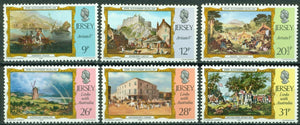 Jersey Scott #340-345 MNH Links with Australia Paintings by Gilfillan CV$3+