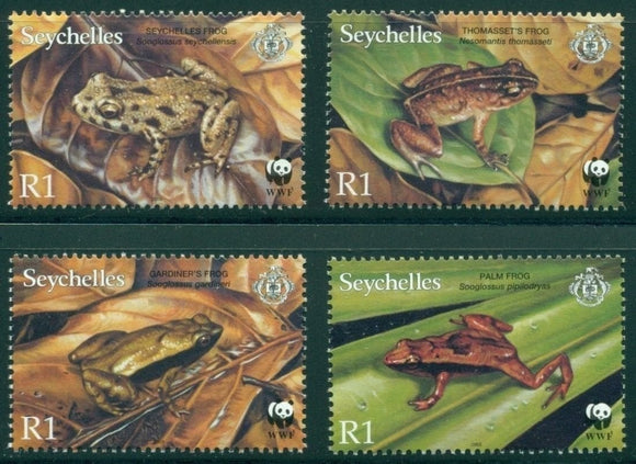 Seychelles Scott #831-834 MNH Worldwide Fund for Nature Fauna WWF CV$4+