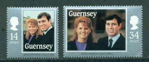 Guernsey Scott #334-335 MNH Prince Andrew and Miss Ferguson Wedding $$