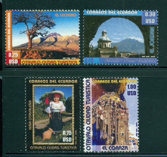 Ecuador Scott #1827-1830 MNH Tourism in Otavalto CV$10+