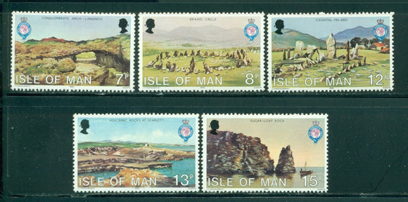 Isle of Man Scott #163-167 MNH Royal Geographical Society Scenes $$