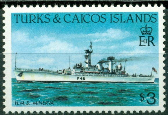Turks & Caicos Islands Scott #591 MNH HMS Minerva $3 CV$8+