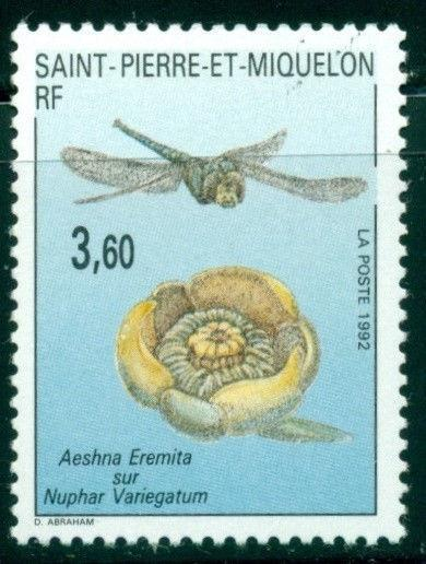St. Pierre & Miquelon Scott #555 MNH Insects and Flowers $$