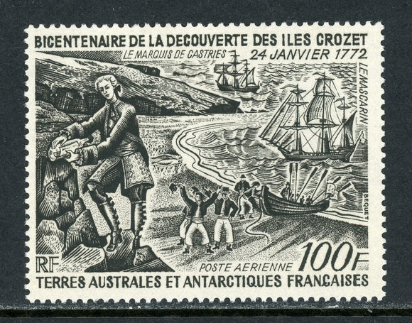 FSAT TAAF Scott #C26 MNH Crozet and Kuergelen Islands Discovery 100fr CV$45+