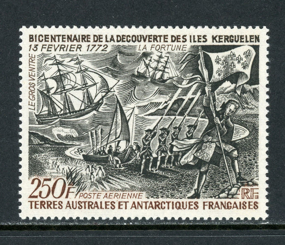 FSAT TAAF Scott #C27 MNH Crozet and Kuergelen Islands Discovery 250fr CV$100+