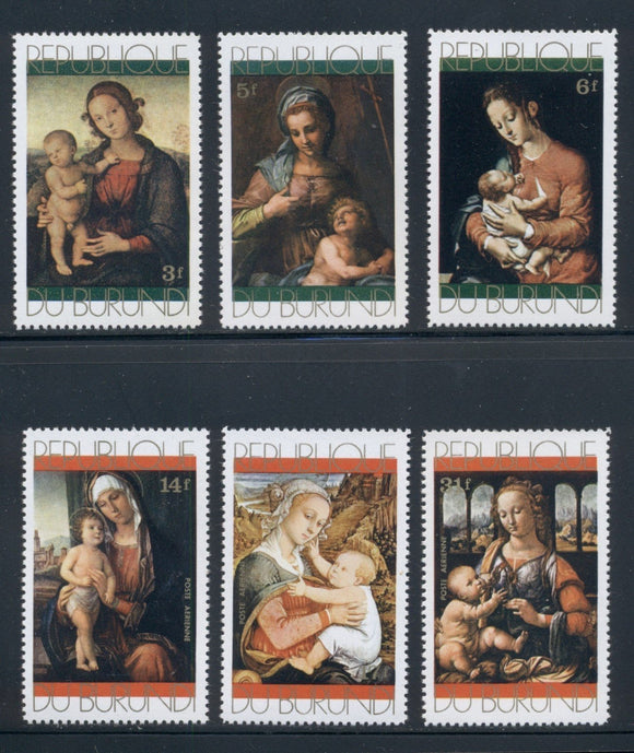 Burundi Scott #376//C155 MNH Christmas 1971 Paintings Art CV$4+