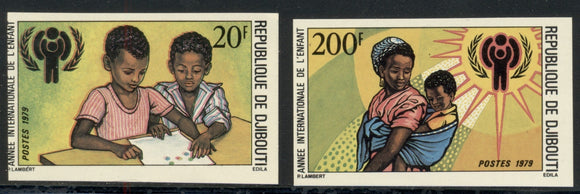 Djibouti Scott #489-490 MNH IMPERF Int'l Year of the Child IYC $$