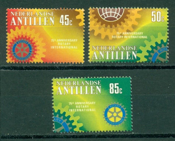 Netherlands Antilles Scott #449-451 MNH Rotary Int'l 75th ANN $$