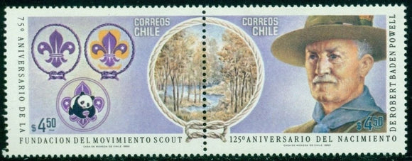 Chile Scott #623 MNH Scouting Year Baden-Powell CV$40+