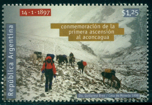 Argentina Scott #1986 MNH First Ascent of Aconcagua CV$3+