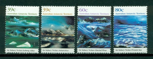 Australian Antarctic Ter. Scott #L77-L80 MNH Paintings by Sir Sidney Nolan CV$6+