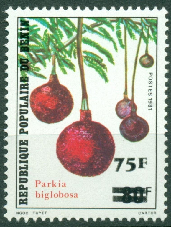 Benin Scott #542 MNH SCHG on #508 Tree Flora $$