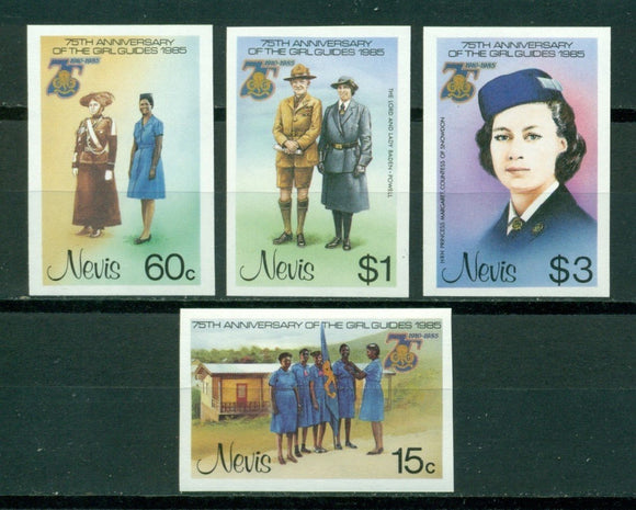 Nevis Scott #423-426 IMPERF MNH Girl Guides 75th ANN $$