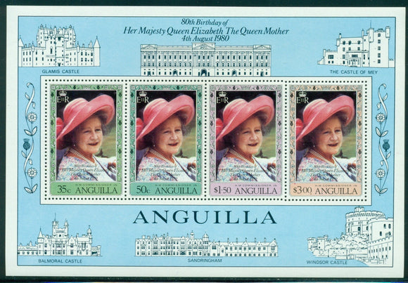 Anguilla Scott #397a MNH S/S Queen Mother's 80th Birthday CV$5+