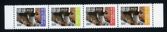 Costa Rica Scott #RA120 MNH STRIP Child Examining Stamp CV$3+