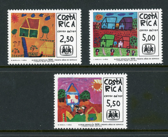 Costa Rica Scott #C765-C767 MNH SOS Children's Village ART CV$5+