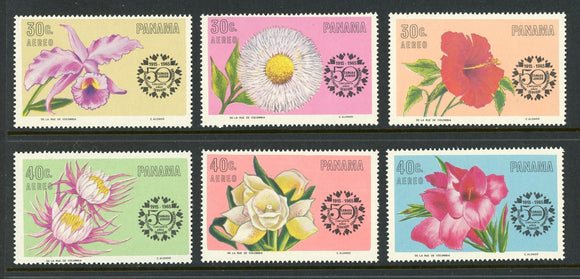Panama Scott #C343-C348 MNH Flora/Flowers Orchids Chamber of Commerce CV$6+