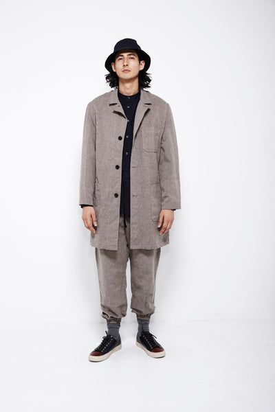 SS16 Look 7a: Lab Coat / Kalamazoo Shirt / Track Pant