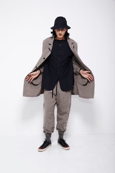 SS16 Look 7b: Lab Coat / Kalamazoo Shirt / Track Pant