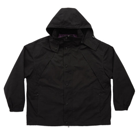 Column Jacket - Black Waxed Cotton/Nylon WR