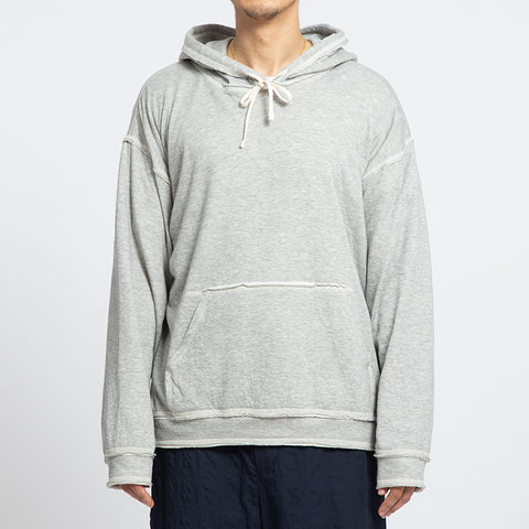 Grey Raw Edge Big Game Hoodie