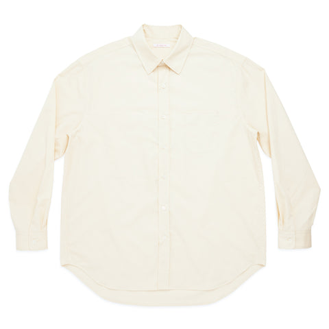 Dexter Shirt - Cream Lux Cotton Poplin