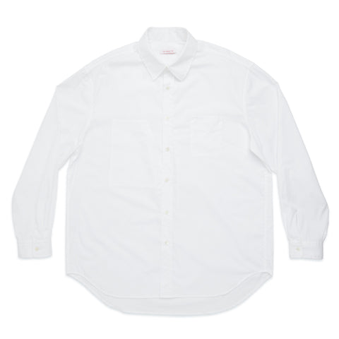 Dexter Shirt - White Lux Cotton Poplin
