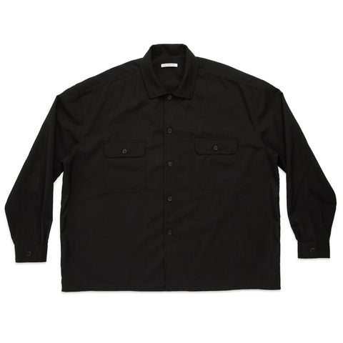 Park Shirt/Jacket - Black Tropical Wool
