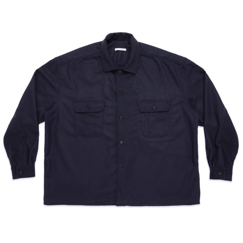 Park Shirt/Jacket - Navy Camel Hair