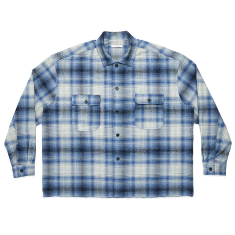 Park Shirt/Jacket - Blue Plaid Flannel