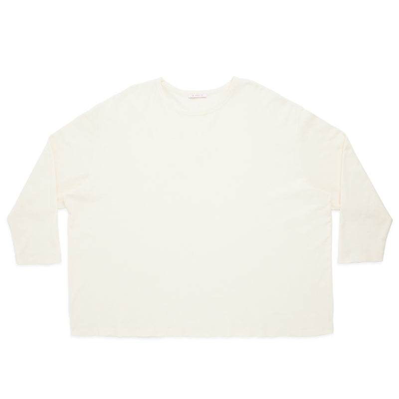 Waffle Thermal Long Sleeve T-Shirt - Cream
