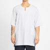 Oba Shirt -  White/Blue Pinstripe