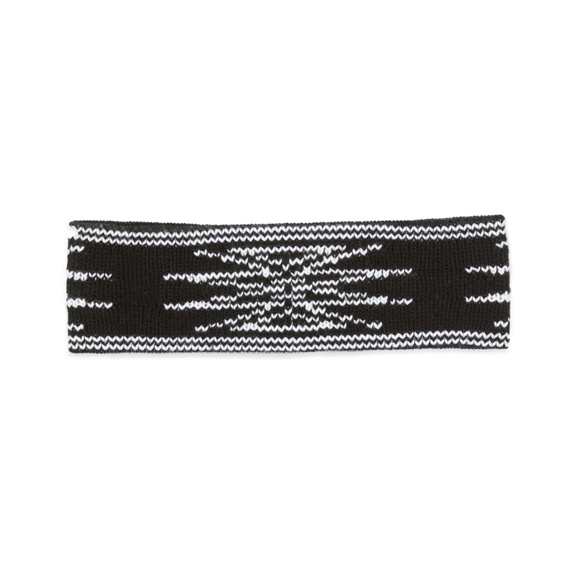 Sunburst Headband - Black & White Cotton