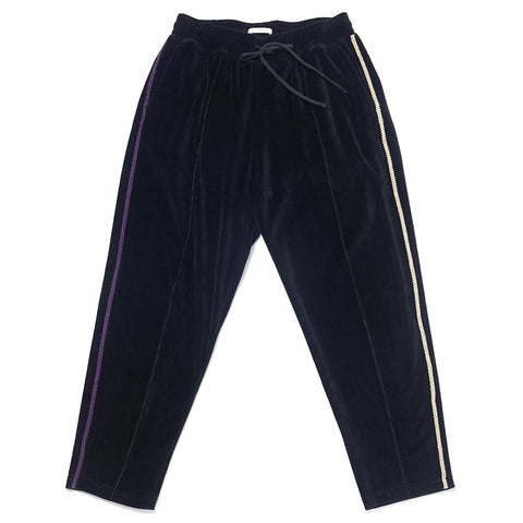 Velour Maestro Pant - Black w/ Braid