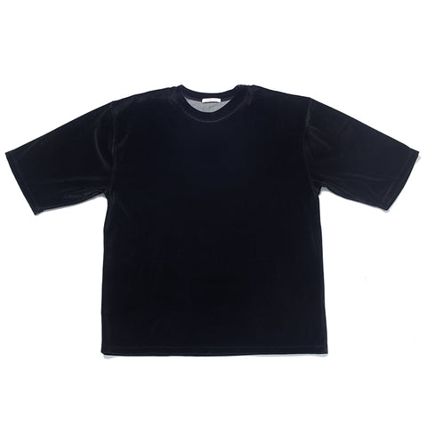 Velour Short Sleeve T-Shirt - Black