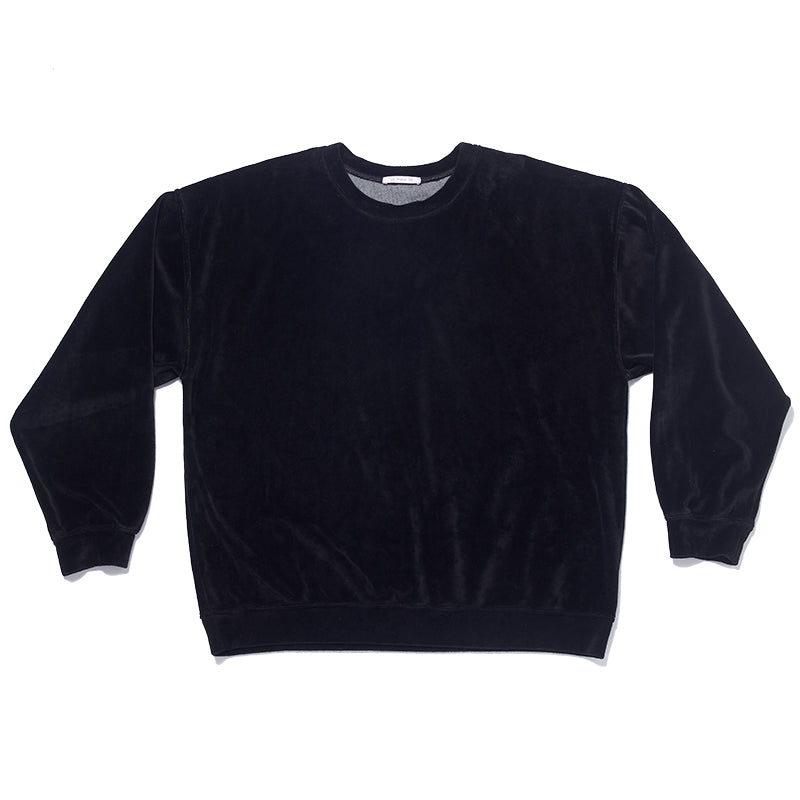 Velour Crewneck Sweatshirt - Black