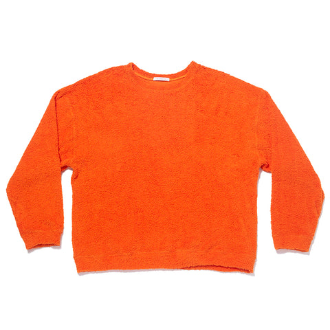 Reversible Pile Crewneck Sweatshirt - Orange