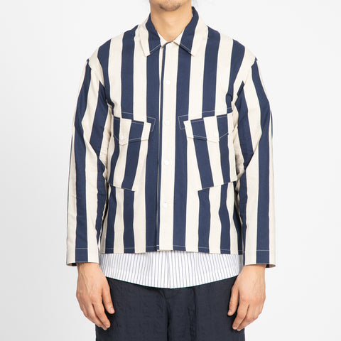 Terra Shirt/Jacket - Bold Blue Stripe