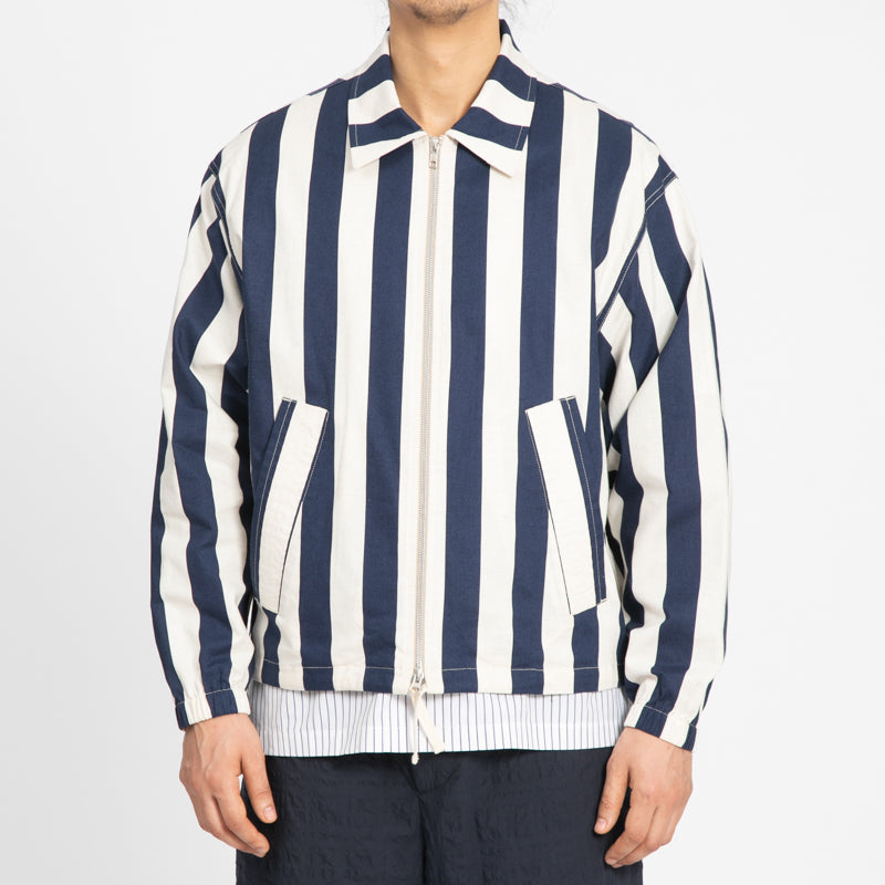 Hackney Jacket - Bold Blue Stripe